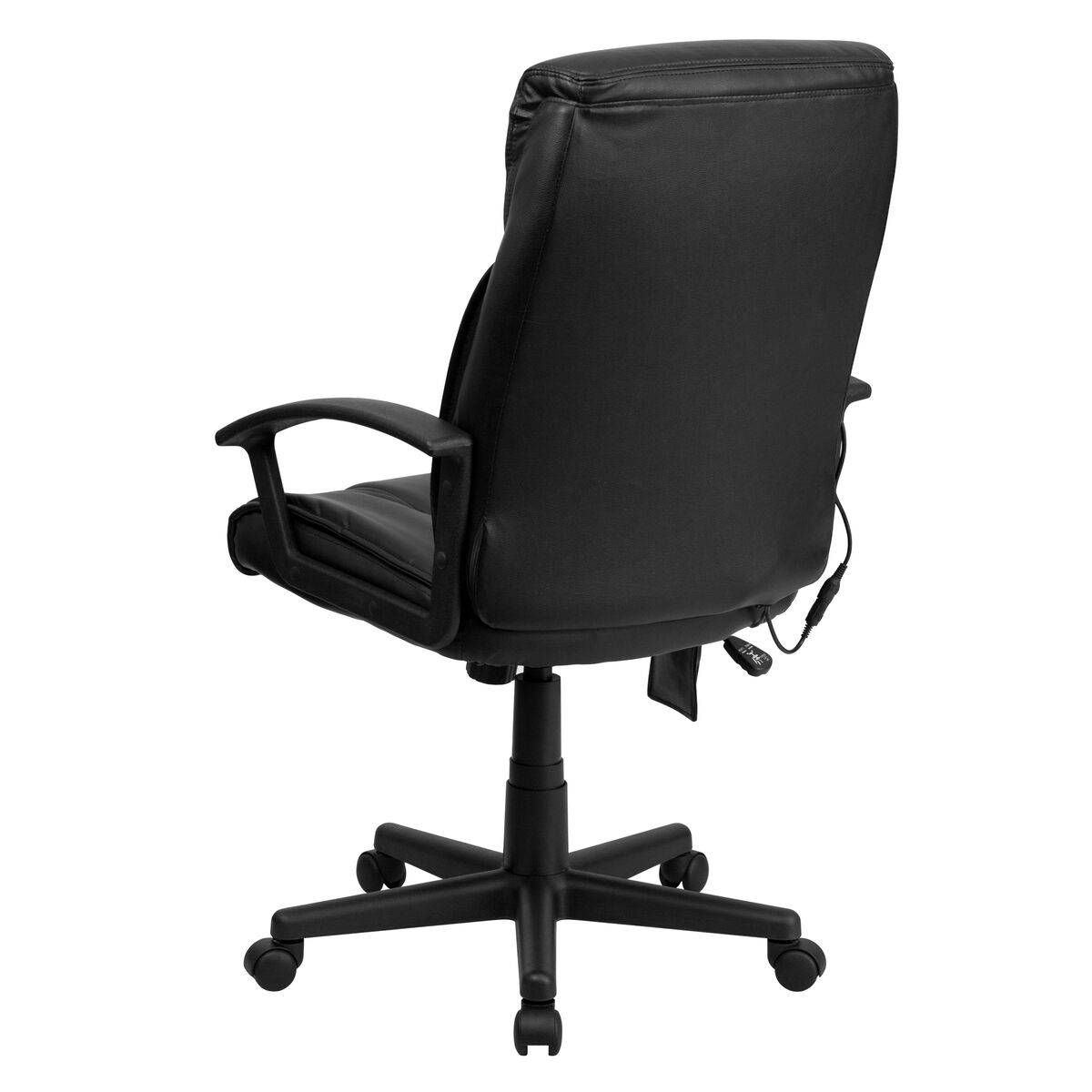 Our High Back Massaging Black Leather Executive Swivel Chair With Arms Is On Now
