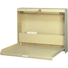 WallWrite Locking Fold-Up Desk - Bone White