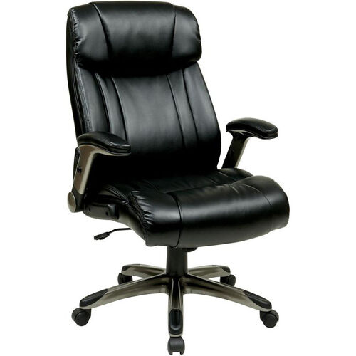 Our Work Smart Executive High Back Eco Leather Chair with Cocoa Coated Base - Espresso is on sale now.