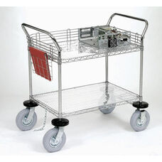 Chrome 2 Shelf Computer/Instrument Cart - 24