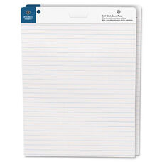 Business Source Lined Self-Stick Easel Pads - Pack Of 2