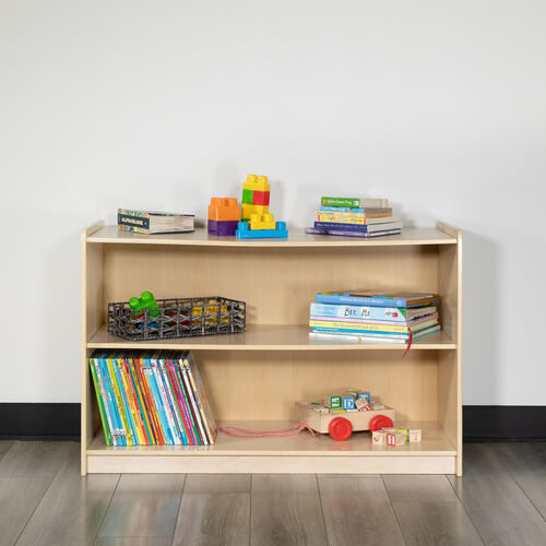 Wooden School Classroom Storage Cabinet for Commercial or Home Use - Safe, Kid Friendly Design (Natural)