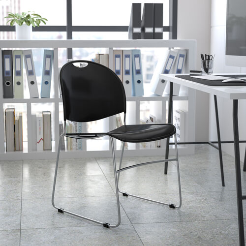 HERCULES Series 880 lb. Capacity Ultra-Compact Stack Chair with Metal Frame