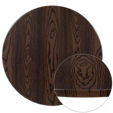"30"" Round Rustic Wood Laminate Table Top"