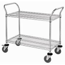 37.5''H x 24''W x 48''D 2 Shelf Wire Utility Cart