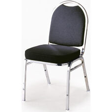500 Series Stacking Armless Hospitality Chair with Rounded Back and 2