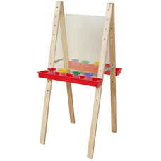 Double Adjustable Acrylic Easels with Solid Maple Legs - 22