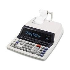 Sharp 12 Digit Commercial Calculator -2 Clr Print -9 7/8