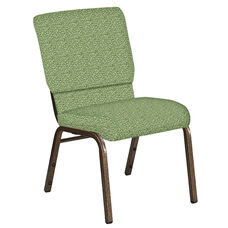 Embroidered 18.5''W Church Chair in Lancaster Sage Fabric - Gold Vein Frame