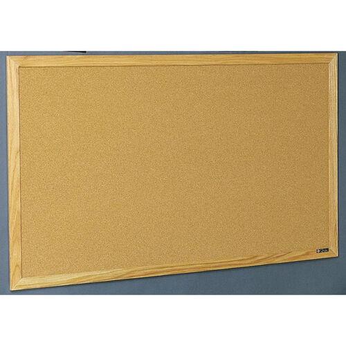 Our Quick Ship Wood Frame Tackboard - NuCork - 48