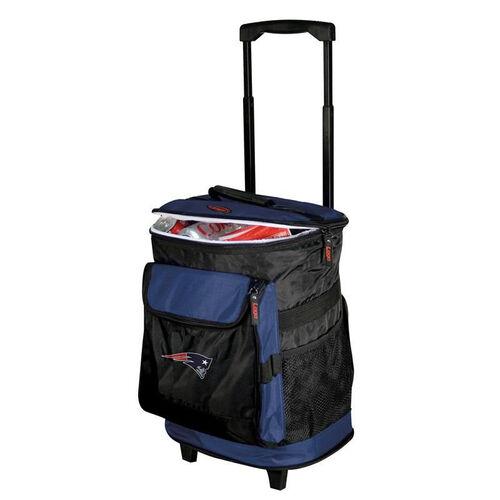 New England Patriots Team Logo Rolling Cooler