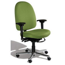 Triton Max Extra Large Back Desk Height Cleanroom ESD Chair with 500 lb. Capacity - 6 Way Control - Black Vinyl