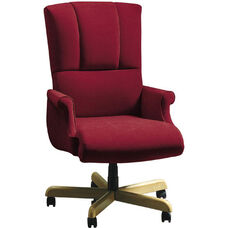 Quick Ship Trifecta Executive Swivel Chair with Fully Upholstered Arms
