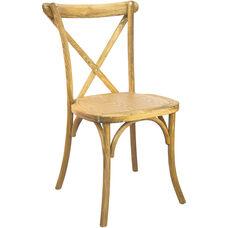 Advantage Hand Scraped Natural X-Back Chair