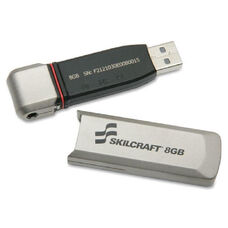 SKILCRAFT 32GB USB 2.0 Flash Drive - 32 GB - Silver