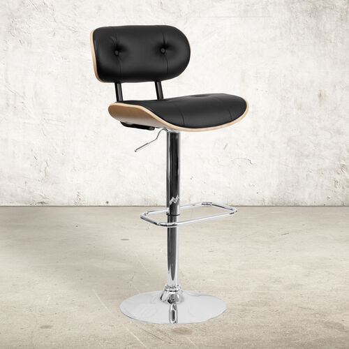 Our Bentwood Adjustable Height Barstool with Button Tufted Vinyl Upholstery is on sale now.