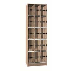15 Compartment Storage w/Grill Doors