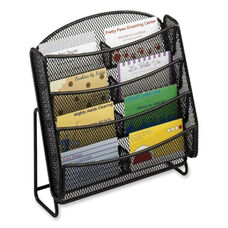 Safco Business Card Holder -Mesh -8 Pockets -8 3/4