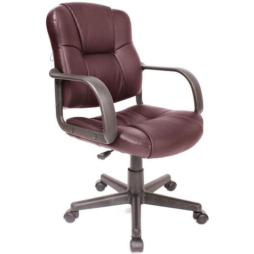 Massage Mid-back Leather Task Chair - Brown