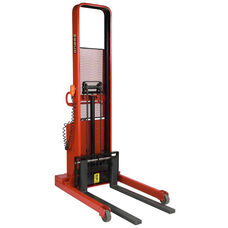 1,500 Lb Capacity Fork Model Powered Stacker With 15