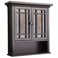 Windsor Wall Cabinet with Two Doors and One Shelf - Dark Espresso