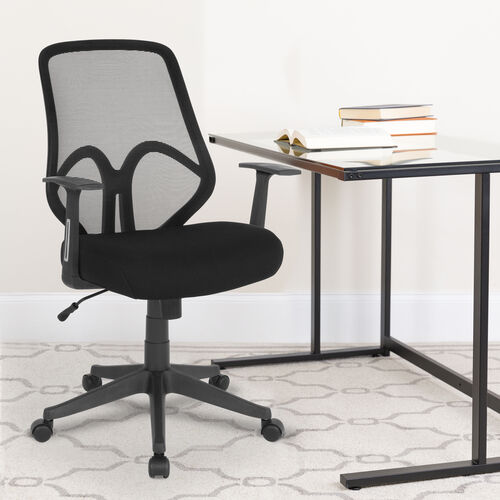 Our Salerno Series High Back Black Mesh Office Chair with Arms is on sale now.