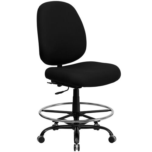 Our HERCULES Series Big & Tall 400 lb. Rated Black Fabric Ergonomic Drafting Chair with Adjustable Back Height is on sale now.