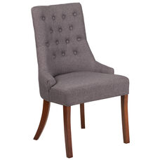 HERCULES Paddington Series Gray Fabric Tufted Chair