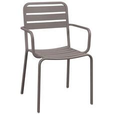 Vista Stackable Outdoor Aluminum Arm Chair - Earth