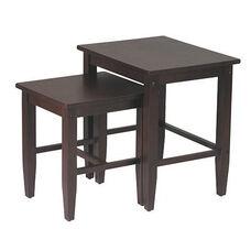 OSP Designs 2-Pc. Nesting Tables - Espresso