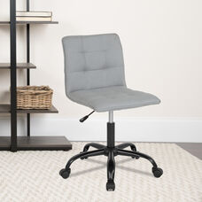 Sorrento Home and Office Task Chair in Light Gray Fabric