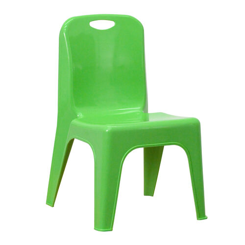 Our Green Plastic Stackable School Chair with Carrying Handle and 11