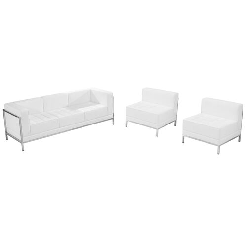 Our HERCULES Imagination Series Melrose White Leather Sofa & Chair Set is on sale now.