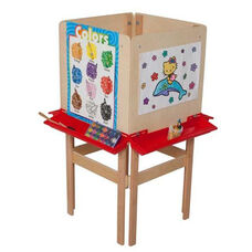 4 Sided Adjustable Board Height Easel with Attached Trays - 20