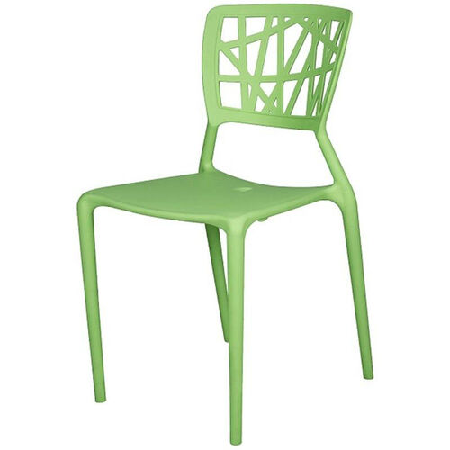 Phoenix Outdoor Stackable Armless Side Chair - Green
