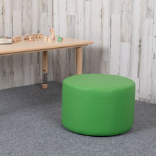 "Soft Seating Collaborative Circle for Classrooms and Daycares - 12"" Seat Height (Green)"