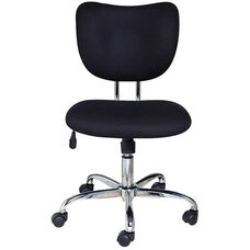Mid Back Mesh Task Chair with Five Star Base - Black