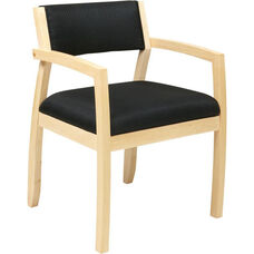 OSP Furniture Napa Guest Chair with Upholstered Back - Maple