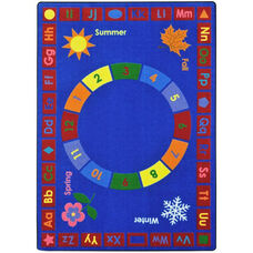Kid Essentials Learning Time Nylon Rug with SoftFlex Backing - 92