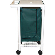 Single Bag Hamper with Mesh Bag and Casters - 18.750