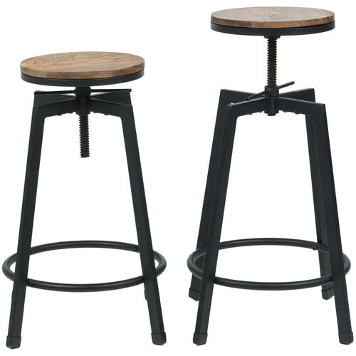 Our Vintage Industrial Stackable Swivel Backless Barstool with Wood Seat - Set of 2 is on sale now.