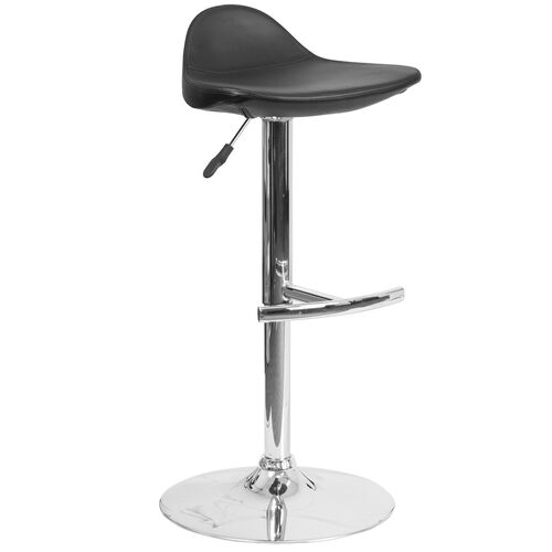 Stupendous Contemporary Vinyl Adjustable Height Saddle Style Barstool With Chrome Base Squirreltailoven Fun Painted Chair Ideas Images Squirreltailovenorg