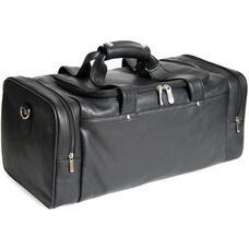 Deluxe Sports Travel Bag - Florida Genuine Leather - Black