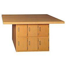 Four Station Wood Workbench with Storage Base