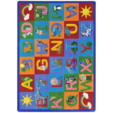 Kid Essentials Learning Letter Sounds Nylon Rug with SoftFlex Backing - 64