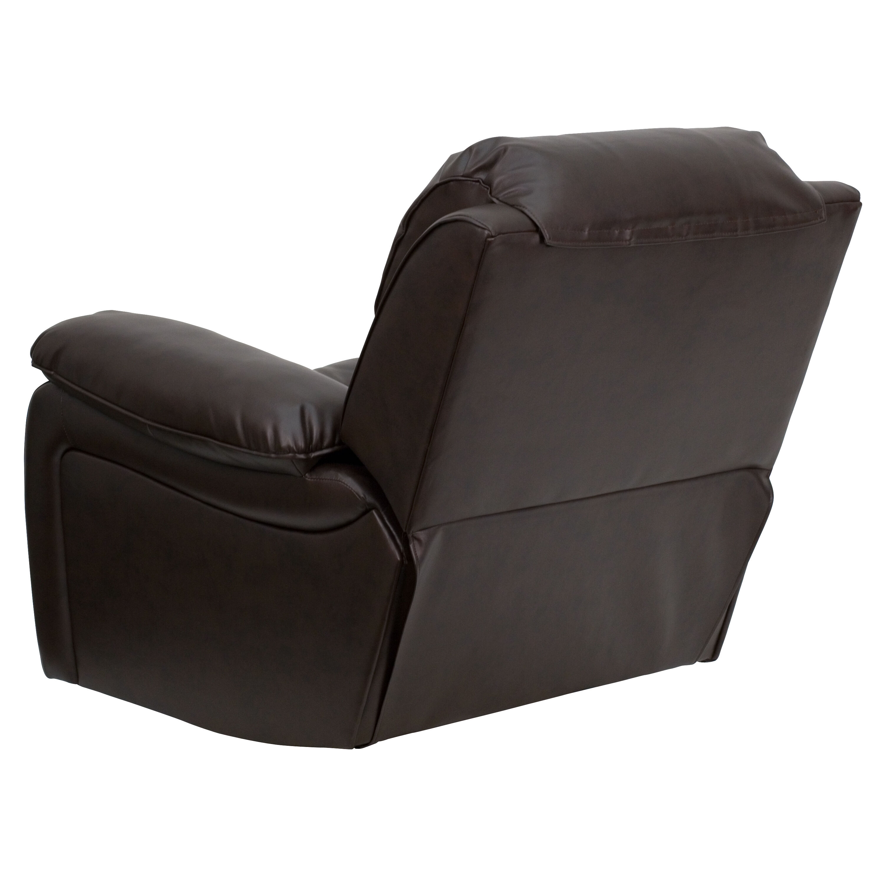 Our Brown Leather Rocker Recliner Is On Sale Now.