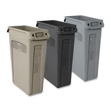 Rubbermaid Commercial Products Slim Jim Waste Containers withVent Channels - 11
