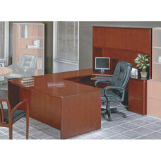 OSP Furniture Sonoma Collection U-Shaped Desk with Hutch - Cherry