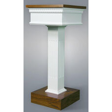 Red Oak Colonial Finish Flower Stand with Square Fluted Column