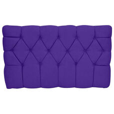 Kids Meridia Collection - Tufted Upholstered Twin Headboard - Purple Suede